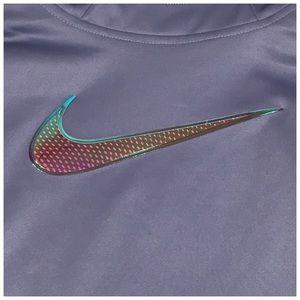 Nike Shirts & Tops - Nike Dri Fit Therma Hoodie Girls Purple Swoosh NWT